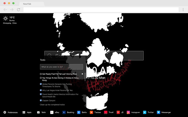 Clown New Tab Page HD Popular DC Theme