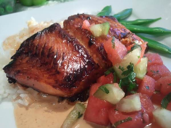 Caramelized Salmon Over Scented Jasmine Rice Recipe