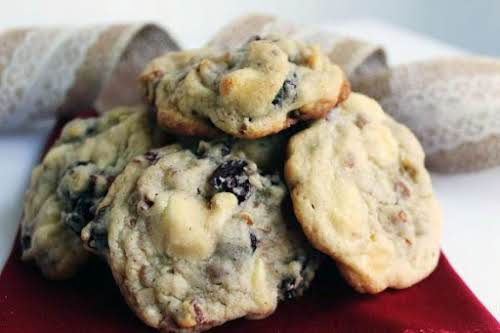 """White Chocolate Chunk Cranberry Cookies """"I love to make them ahead and..."""