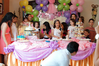 Photo: Afterwards we went to Cousin Hector's house.  His granddaughter was celebrating her birthday.
