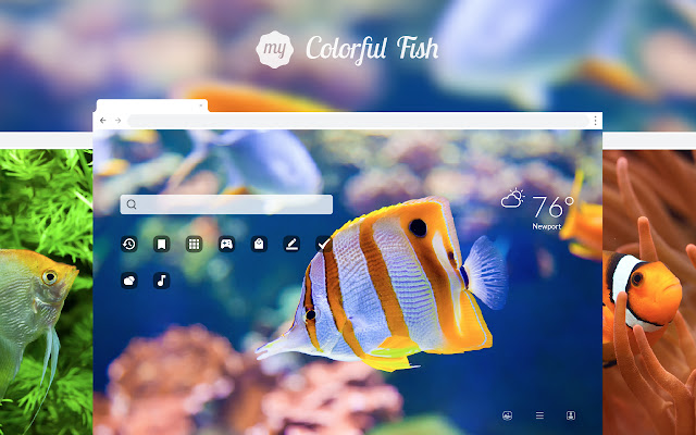 My Colorful Fish HD Wallpapers New Tab Theme