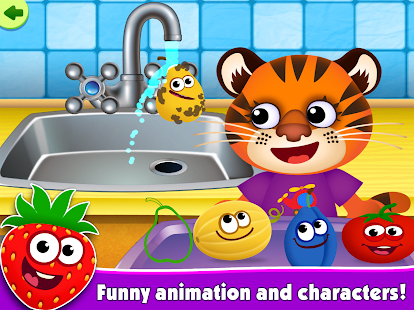 FunnyFood Kindergarten learning games for toddlers- screenshot thumbnail