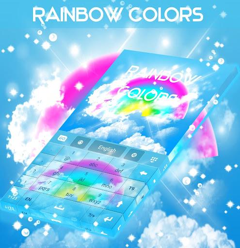玩免費個人化APP|下載彩虹色GO键盘 app不用錢|硬是要APP