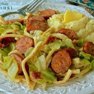 Bacon & Cheddar Sausage Halushki.