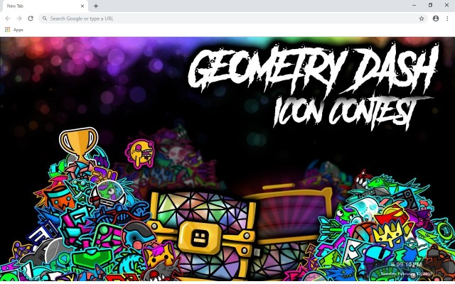 Geometry dash New Tab & Wallpapers Collection