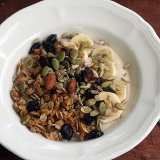 Banana, Cranberry and Granola Porridge