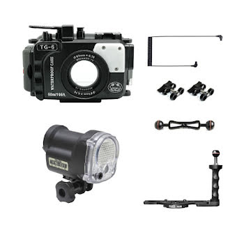 OLYMPUS TG-6 SEAFROGS (STROBE+UW HOUSING+ARM+OPTICAL CABLE)