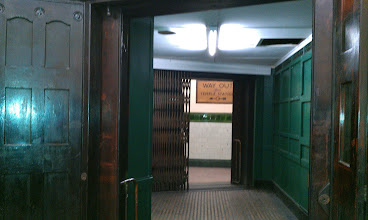 Photo: Lift - it doesn't work anymore, which is why this station is closed