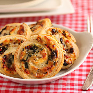 Three Cheese Stuffed Puff Pastry Pinwheels