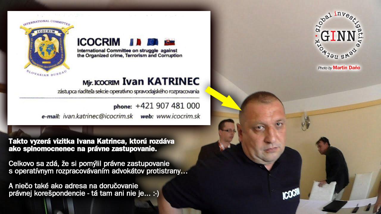 Ivan Katrinec, Vizitka, Icocrim
