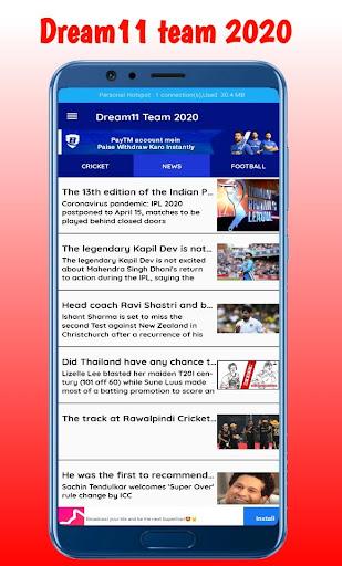 Fantasy team Dream11- Tips & Cricket Prediction  screenshots 3