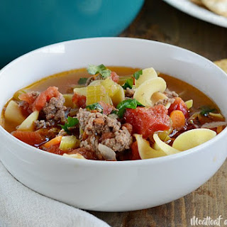 Ground Beef Noodle Soup.