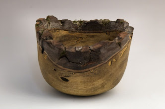 "Photo: Tom Ankrum - Natural edge bowl - 5 1/2"" x 3"" - persimmon"