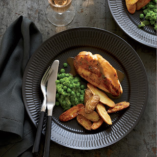 Chicken Breasts with Potatoes and Mashed Peas Recipe