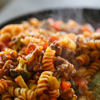 Italian Sausage & Peppers Pasta.