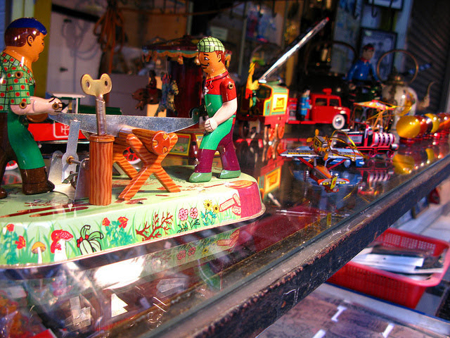 Vintage, Tin Toys, Cat Street, hong kong,  古董, 鐵皮玩具, 摩羅上街