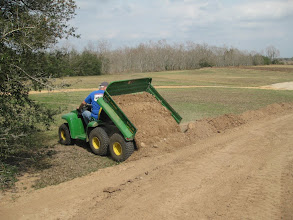 Photo: Peter Bryan widening the Phase IV right of way.
