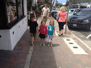 Photo: Jack, Fianna and Amanda walking around San Clemente, 2013