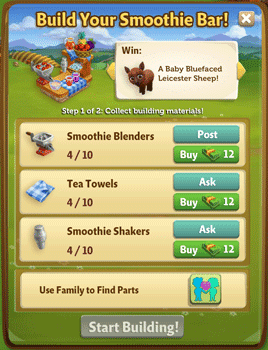 farmville 2 smoothie bar building requirement