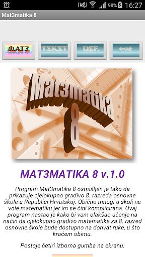 Matematika 8 osnovna škola
