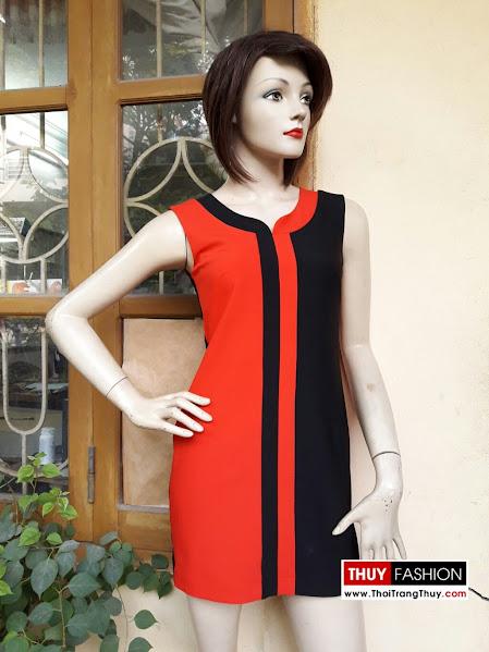 Váy suông dáng hơi ôm V268 thời trang thuỷ