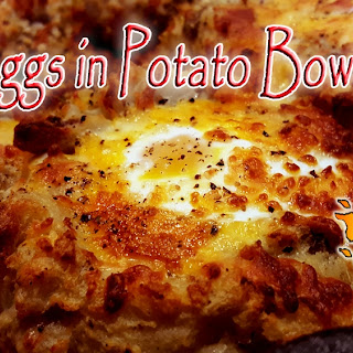 Eggs in Potato Bowls! Easy and Good!