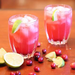 Cranberry Vodka Spritzer.