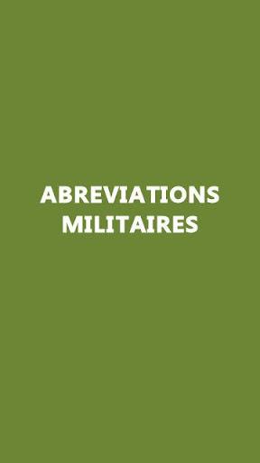 Abru00e9viations Militaires screenshots 1