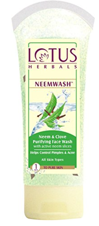 Lotus Herbals Neem & Clove Purifying Face Wash - Best Natural Face Wash For Glowing Skin