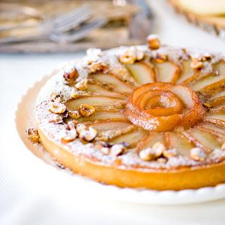Crème de Cassis Pear Hazelnut Tart