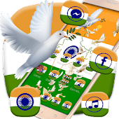 Indian Independence Day flag theme, peace pigeon