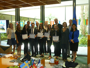 Photo: Euro Challenge Competition 2016 Recognition & Awards Ceremomy Federal Reserve Bank of Atlanta - Miami Branch - April 1st, 2016  Recognition of Florida high school winner: International Studies Preparatory Academy by the judges, the FED, ISPA Principal and teacher, Consul of General of Italy, and competition organizer