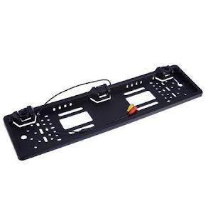 Suport auto de numar cu senzori parcare si camera, Negru