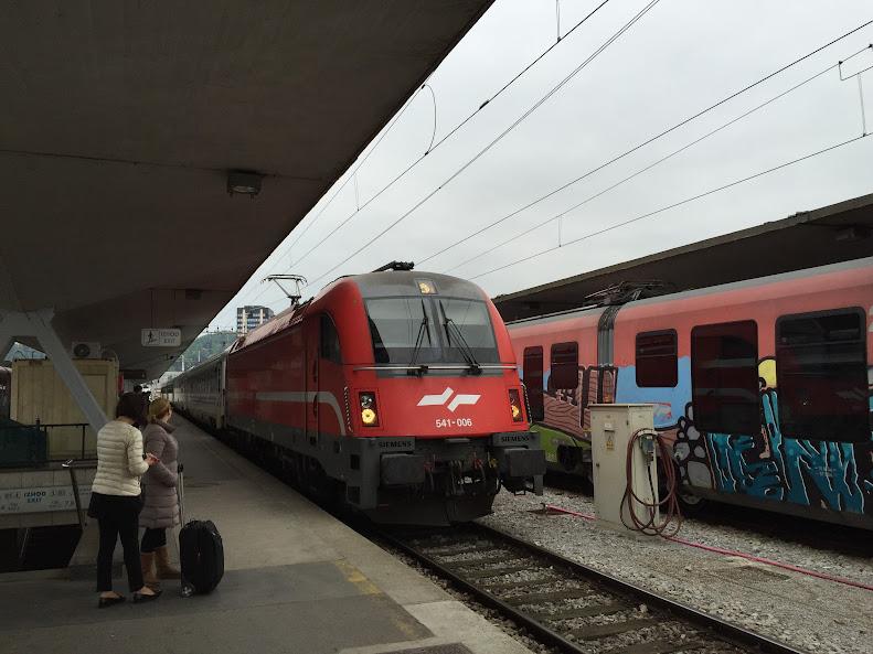 リュブリャナ 電車