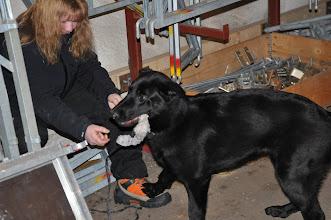 Photo: Vilma leker med figurant May-Camilla