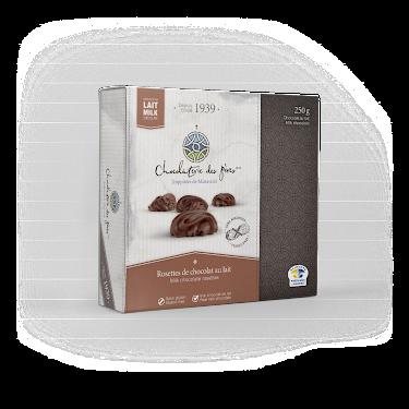 Chocolat Rosettes de chocolat au lait Boîtes
