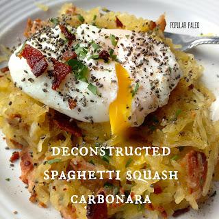 Deconstructed Spaghetti Squash Carbonara... Paleo Style!