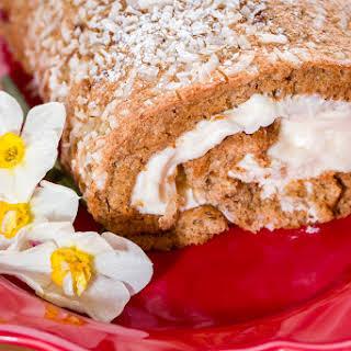 Carrot Cake Jelly Roll (Swiss Roll).