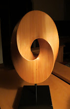"""Photo: big mobius -- about 10"""" x 16""""  from reclaimed fir beam"""