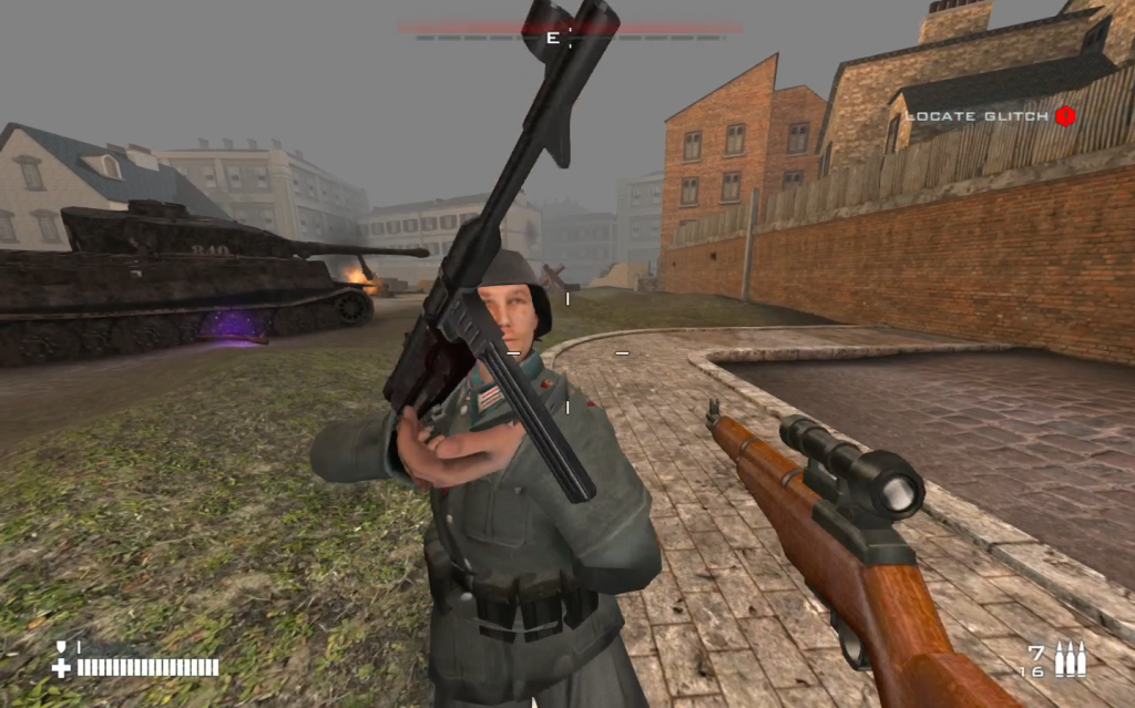 Thought I had found the glitch, but evidently this is how nazis held their guns.
