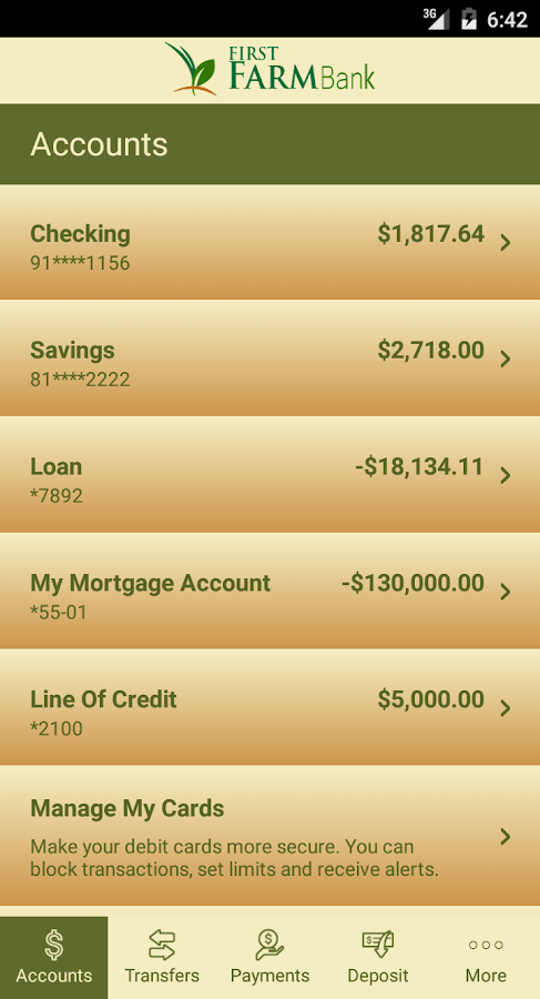First FarmBank Mobile- screenshot