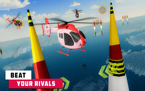 Flying Helicopter Simulator 2019: Heli Racer 3D  screenshots 9