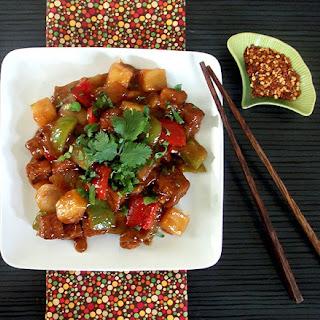 Rhubarb Sweet and Sour Tofu Recipe