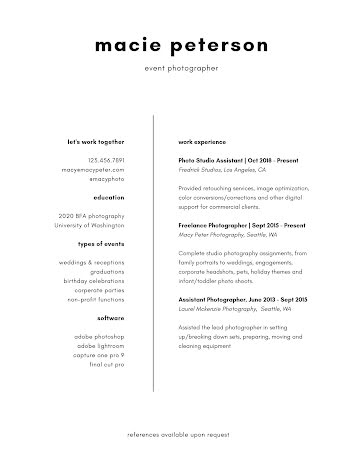 Macie J. Peterson - Resume Template