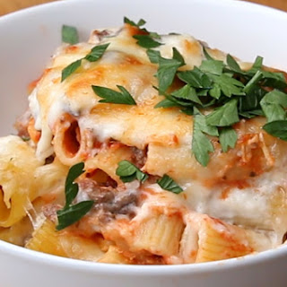 Save & Bake Beef and Cheese Rigatoni Recipe