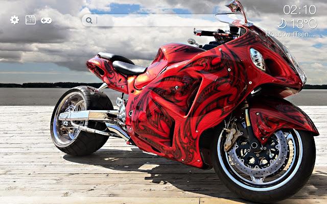 Sport motorcycles HD new free tab theme