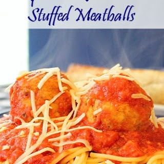 Crockpot Chicken Parmesan Stuffed Meatballs