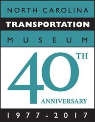 N.C. Transportation Museum 40th Anniversary logo