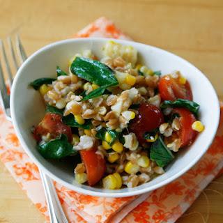 Lemony Farro Salad with Basil and Tomatoes