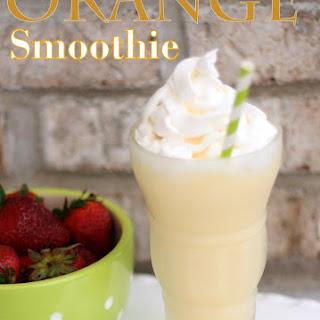 Healthy Orange Smoothie.